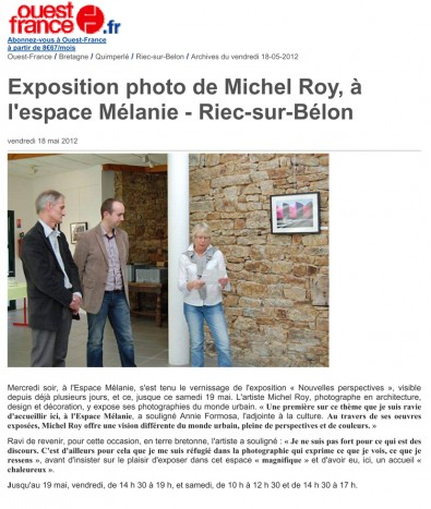 Exposition photos urbaines à RIEC